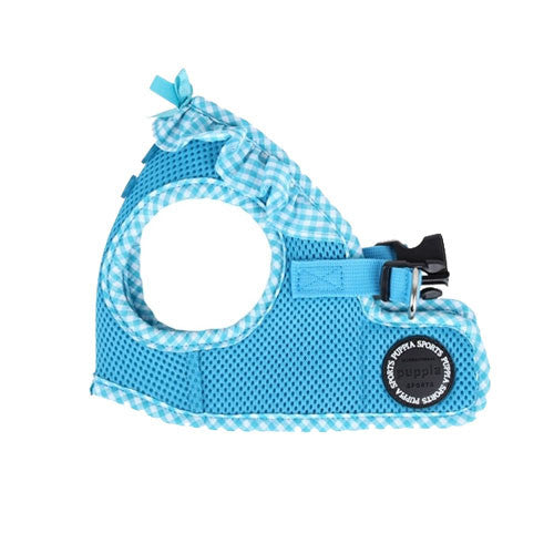 PUPPIA Vivien Step-In Soft Vest Dog Harness B Sky Blue Side View