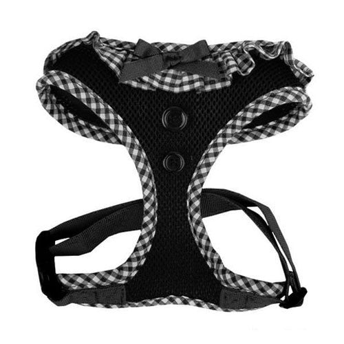 PUPPIA Vivien Soft Collar Adjustable Dog Harness A Black Front