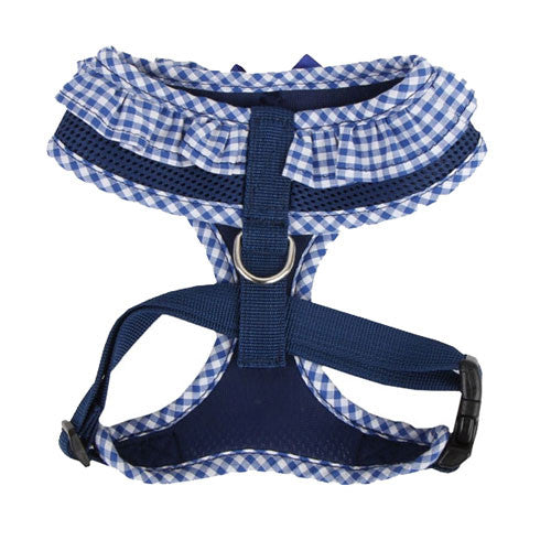 PUPPIA Vivien Soft Collar Adjustable Dog Harness A Royal Blue Back