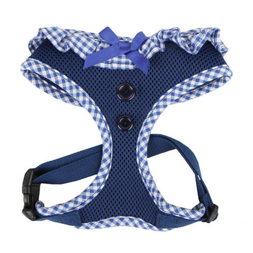 PUPPIA Vivien Soft Collar Adjustable Dog Harness A Royal Blue Front
