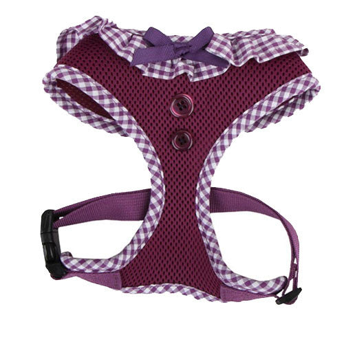 PUPPIA Vivien Soft Collar Adjustable Dog Harness A Purple Front
