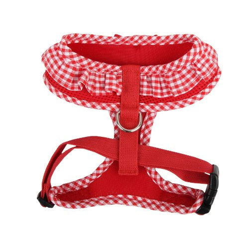 PUPPIA Vivien Soft Collar Adjustable Dog Harness A Red Back