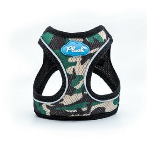 Plush Step In Air Mesh Vest Dog Harness — Camo