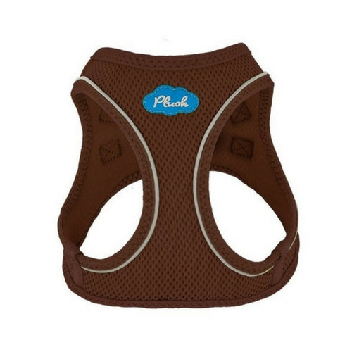 Plush Step In Air Mesh Vest Dog Harness — Toffee
