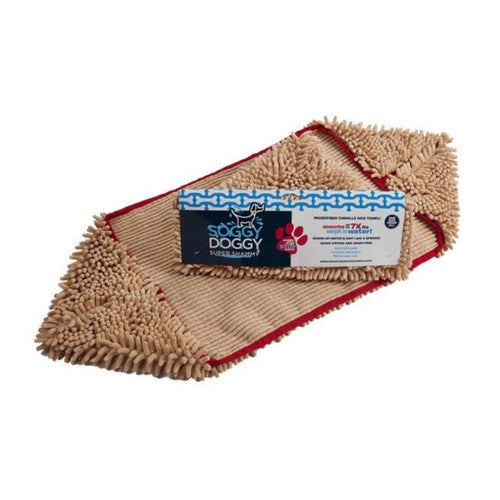 Soggy Doggy Super Shammy Absorbent Microfiber Dog Towel Beige