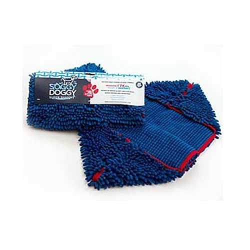 Soggy Doggy Super Shammy Absorbent Microfiber Dog Towel Blue