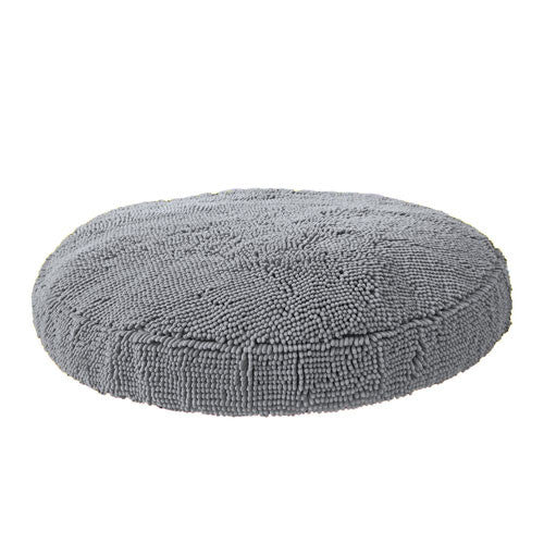Soggy Doggy Super Snoozer Microfiber Chenille Round Dog Bed — Grey