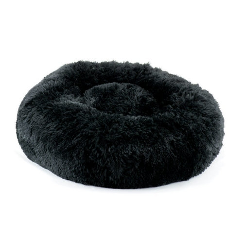 Susan Lanci Designs Plush Nesting Dog Bed — Shag Black