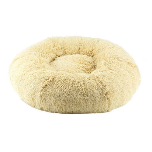 Susan Lanci Designs Plush Nesting Dog Bed — Shag Camel
