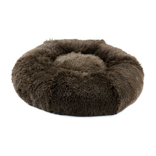 Susan Lanci Designs Plush Nesting Dog Bed — Shag Chocolate
