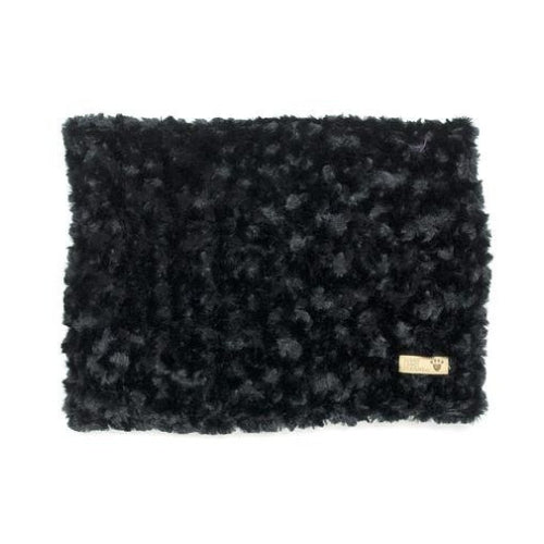 Susan Lanci Designs Plush Blanket — Curly Sue Black