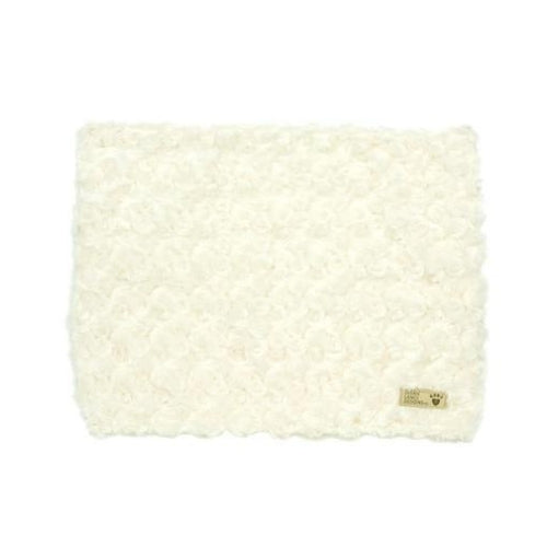 Susan Lanci Designs Plush Blanket — Curly Sue Ivory