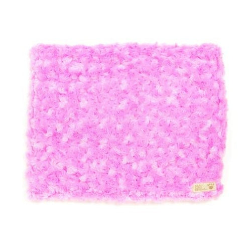 Susan Lanci Designs Plush Blanket — Curly Sue Perfect Pink