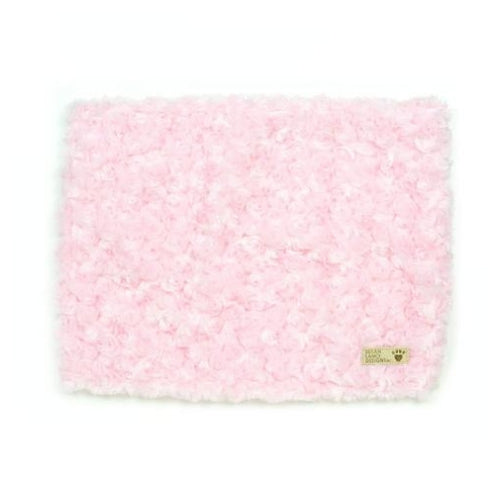 Susan Lanci Designs Plush Blanket — Curly Sue Puppy Pink