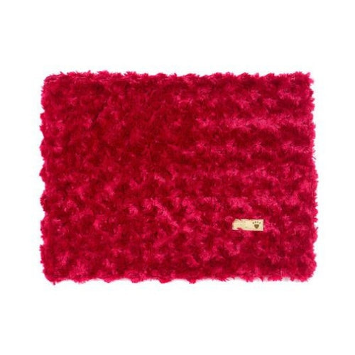 Susan Lanci Designs Plush Blanket — Curly Sue Red