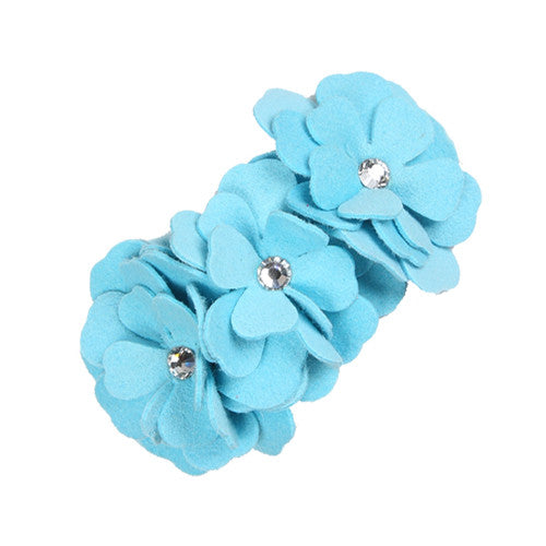 Susan Lanci Designs Tinkie's Garden Party Collar — Tiffi Blue