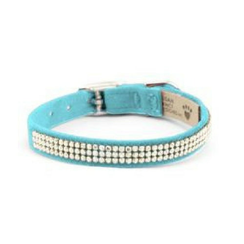 Susan Lanci Designs Giltmore 3 Row Swarovski Crystal Collar — Tiffi Blue