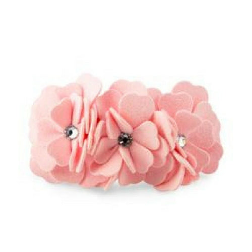 Susan Lanci Designs Tinkie's Garden Party Floral Dog Collar — Puppy Pink