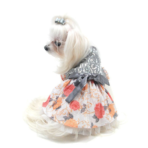 Oscar Newman Truly Oscar Ready To Sparkle Designer Dog Dress on Dog