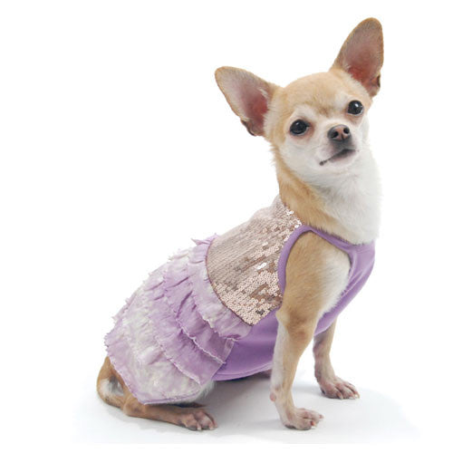 Truly Oscar by Oscar Newman Bling It On Sequin Tank Designer Dog Dress on Dog