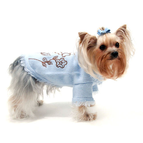 Oscar Newman Truly Oscar Blooming Cute Dog Sweater on Dog