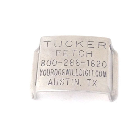 Double Thick CollarTag For Standard Buckle Collars