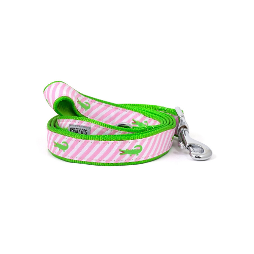The Worthy Dog Alligator Ribbon Nylon Webbing Matching Lead
