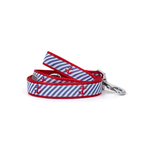 The Worthy Dog Anchor Ribbon Nylon Webbing Dog Collar