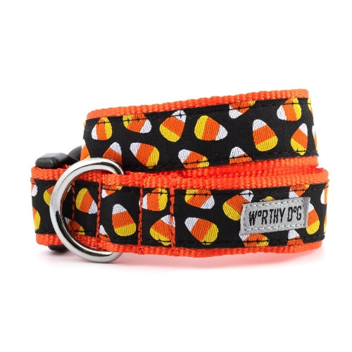 The Worthy Dog Candy Corn Halloween Dog Collar