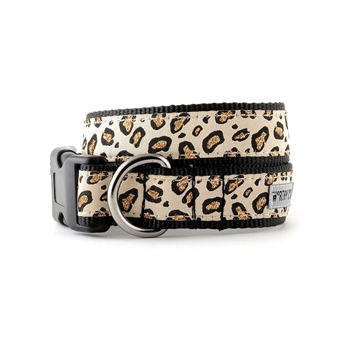The Worthy Dog Cheetah Ribbon Nylon Webbing Dog Collar