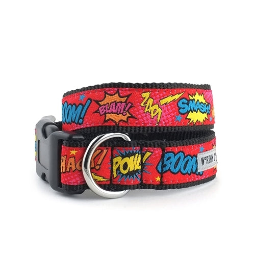 The Worthy Dog Comic Strp Ribbon Nylon Webbing Dog Collar