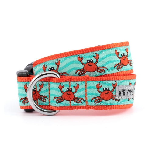 The Worthy Dog Crabs Ribbon Nylon Webbing Dog Collar