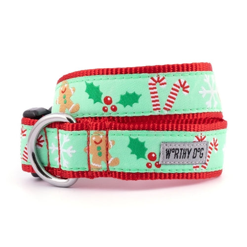 The Worthy Dog Gingerbread Holiday Dog Collar