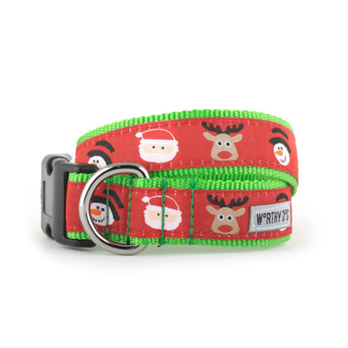 The Worthy Dog Merry Christmas Holiday Dog Collar