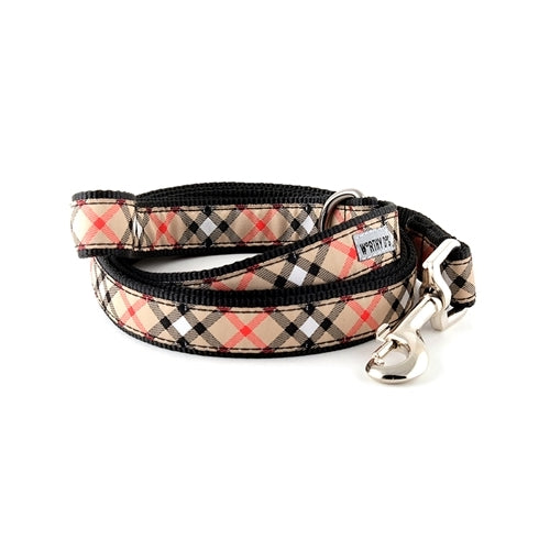 The Worthy Dog Plaid Ribbon Nylon Dog Lead