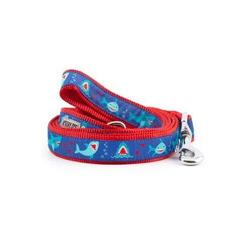 The Worthy Dog Shark Chomp Ribbon Nylon Lead