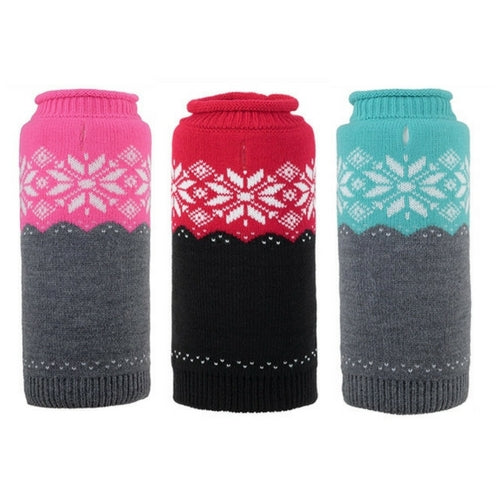 The Worthy Dog Ski Lodge Roll Neck Acrylic Knit Dog Sweater All Colors