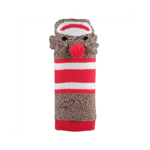 The Worthy Dog Sock Monkey Hoodie Acrylic Knit Dog Sweater