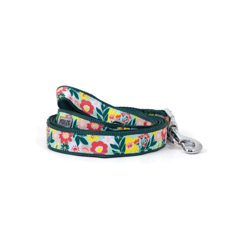 The Worthy Dog Spring Bouquet Ribbon Nylon Webbing Lead
