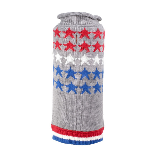 The Worthy Dog Stars Patriotic  Acrylic Dog Sweater