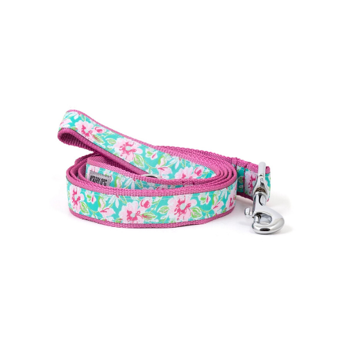 The Worthy Dog Watercolor Floral Ribbon Nylon Lead