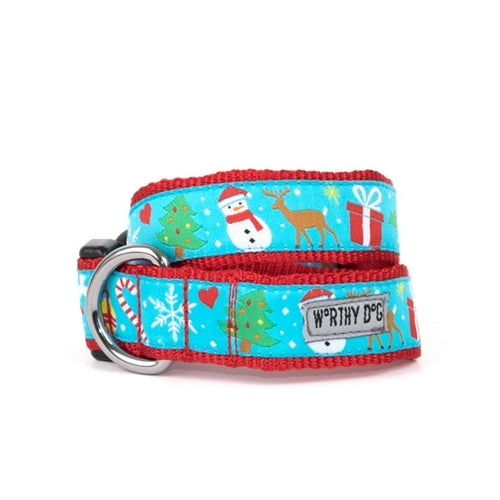 The Worthy Dog Winter Wonderland Dog Collar