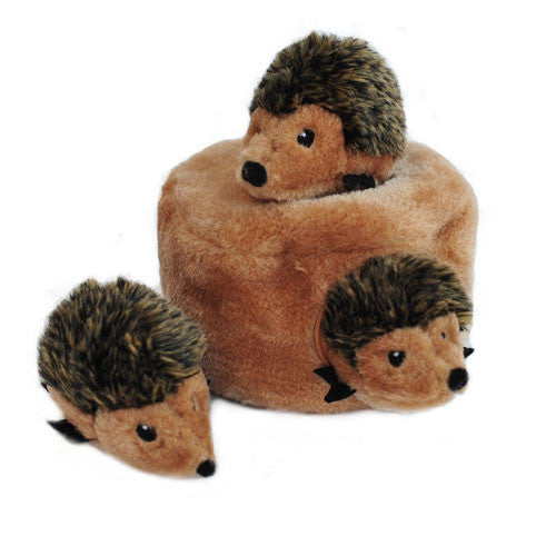 Zippy Paws Hedgehog Den Burrow Interactive Plush Puzzle Dog Toy