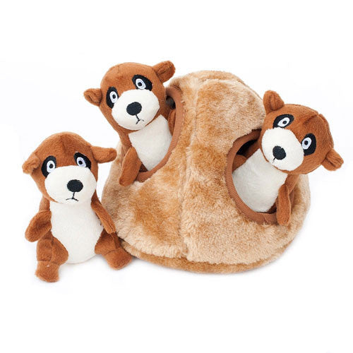 Zippy Paws Meerkat Den Burrow Interactive Plush Puzzle Dog Toy