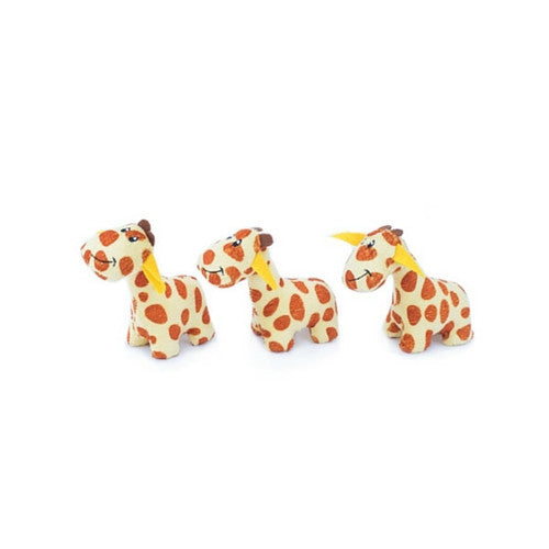ZippyPaws Mini Giraffe Squeaky Toy Three Package