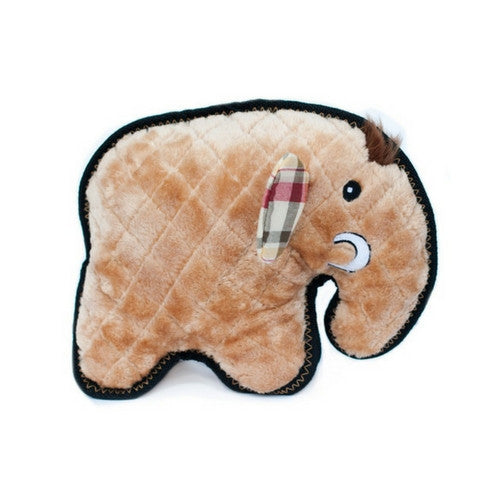 ZippyPaws Z-Stitch Grunterz Durable Tough Dog Toy — Manny the Mammoth Side View