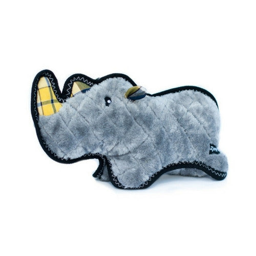ZippyPaws Z-Stitch Grunterz Durable Tough Dog Toy — Ronny the Rhino
