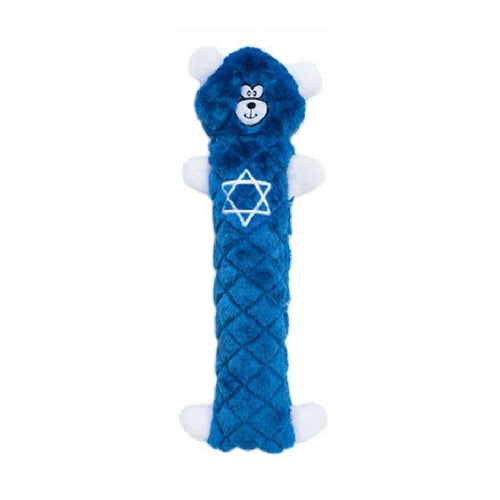Zippy Paws Holiday Jigglerz Hanukkah Bear Stuffing-Free Plush Dog Toy