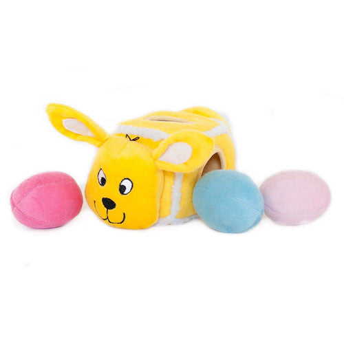 ZippyPaws Hide-an-Egg Burrow Interactive Plush Puzzle Dog Toy