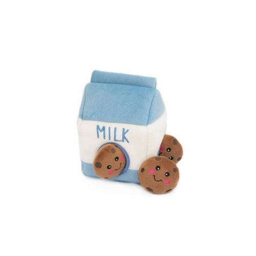 Zippy Paws Milk Carton Cookies Burrow Interactive Plush Puzzle Dog Toy